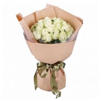 Купить 25 белых роз